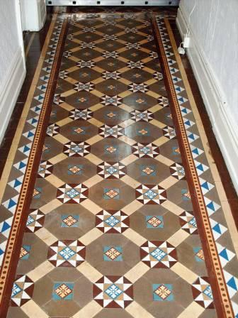 Victorian Tile Hallway floor renovated by Tile Doctor
